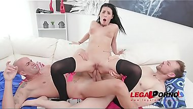 Double anal &amp_ creampie for hot slut Nelly Kent