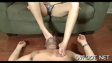 Sexy angel grinds dick and gets her hot toes sucked