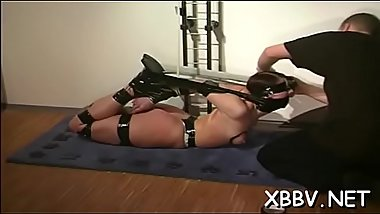Amazing scenes of raw slavery with a sexy amateur woman
