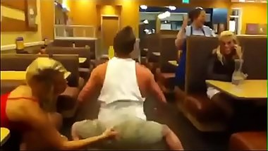 Straight Bodybuilder Twerks In Public