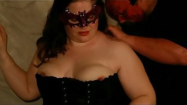 BBW April in a corset, and out of it