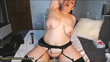 BBW Latina MILF In Stockings Masturbates