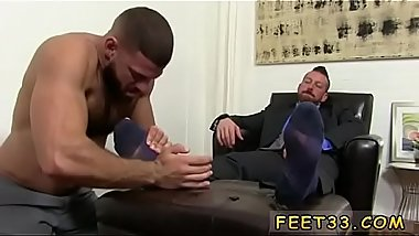 Gay foot fetish xxx Hugh Hunter Worshiped Until He Cums