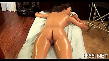 Sweet darling is delighting lad with vigorous riding