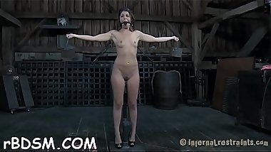 Tough playgirl gets wild toy on her clits and in her anal