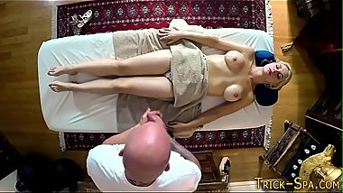 Cutie pounded by masseur