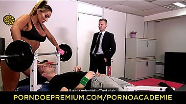 PORNO ACADEMIE - MILF teacher Aubrey Black gets banged in the school gym