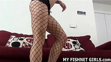 I made sure to wear your favorite fishnets JOI