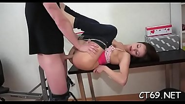 The hot fucking, which our hottie endures, makes her moan loud