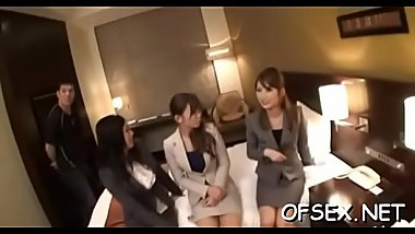 Hot secretary gets screwed hard after a business meeting