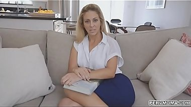 Cherie rides stepsons throbbing cock