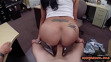 Big breasts latina screwed by pawn dude in his office