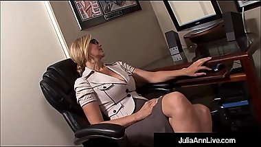 Milf Julia Ann   Office Slut   Blowjob   Cumshot = Winner!