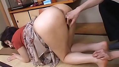Lovely mature chick gives hot blowjob and rides a big pole