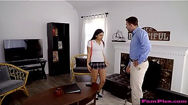 Step daughter punished by her daddy