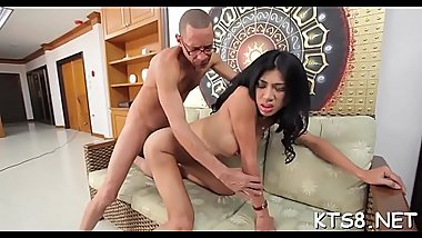 Nasty ladyboy gets her throat and anal opening screwed beastly