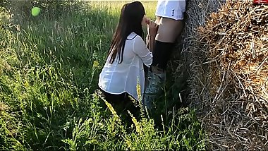 Good to fuck on a haystack! Fucked cute german girl on a haystack