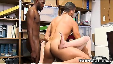 Little Twink Shoplifter Fucked By Two LPO Officers
