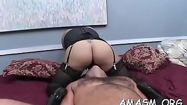 Angel gives head then continues with smothering her man